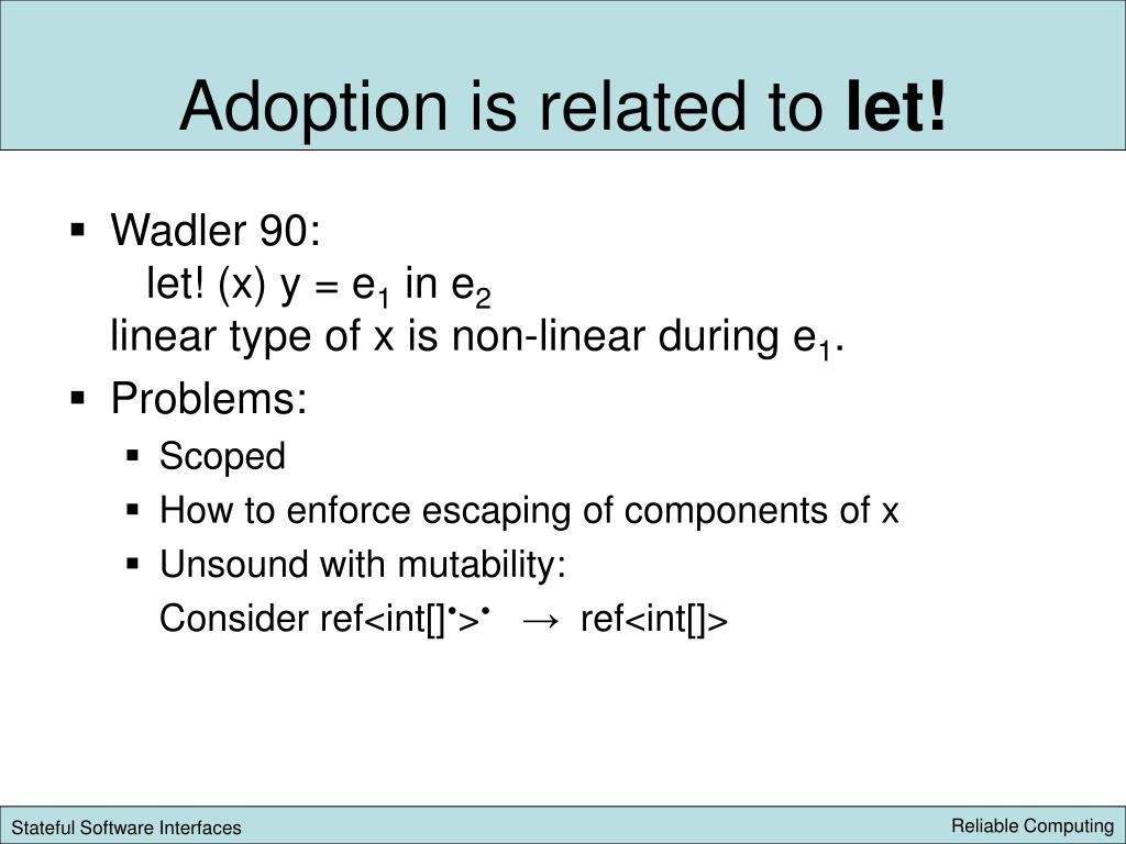 Adoption is related to
