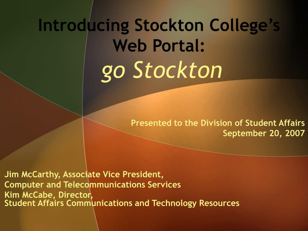 Introducing Stockton College's