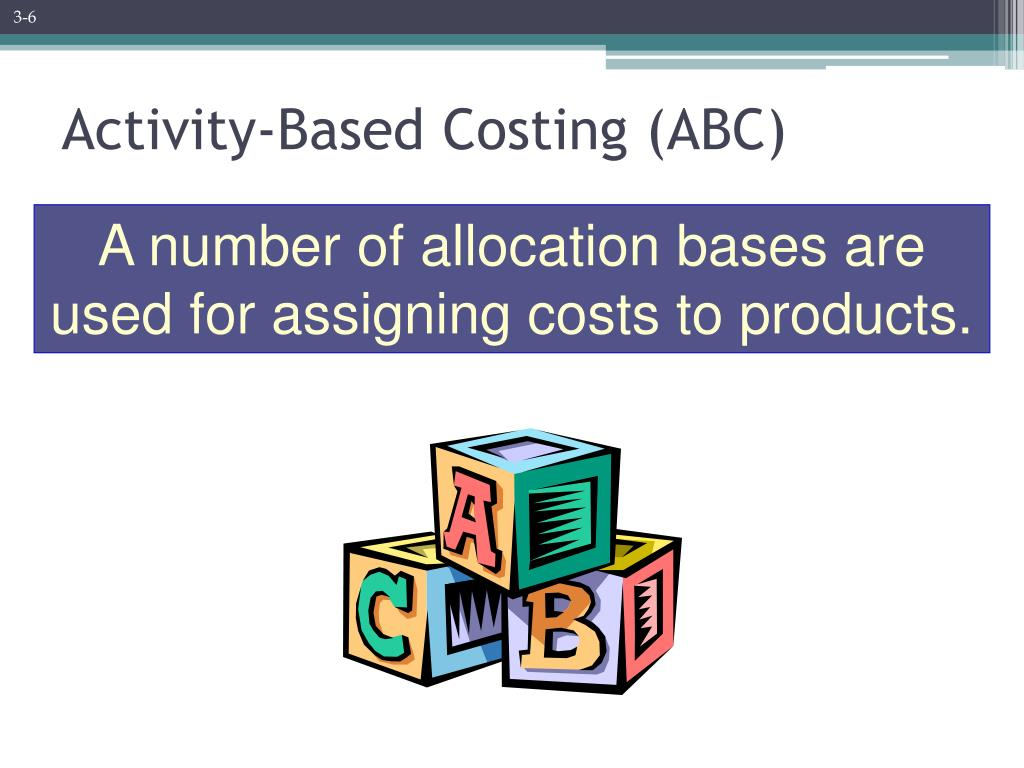 activity based costing draft Activity based costing (abc) assigns manufacturing overhead costs to products in a more logical manner than the traditional approach of simply allocating costs on the basis of machine hours.