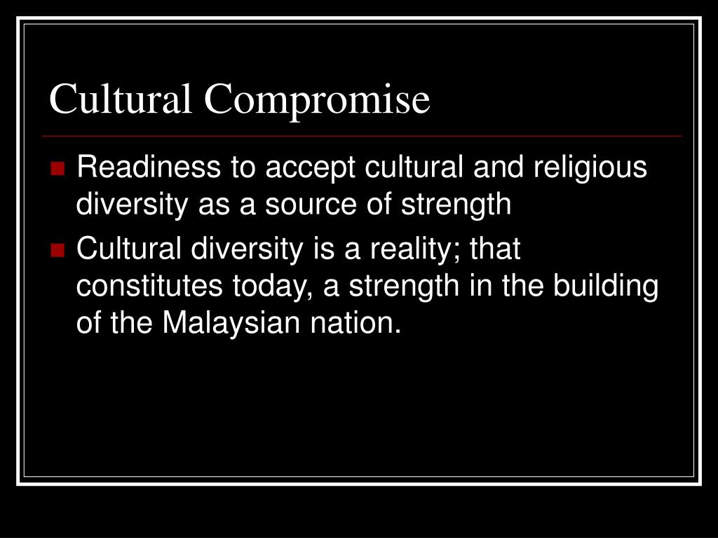 Cultural Compromise