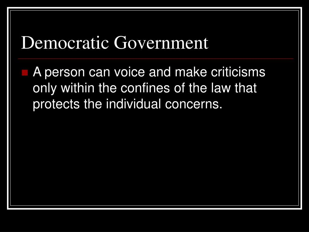 Democratic Government