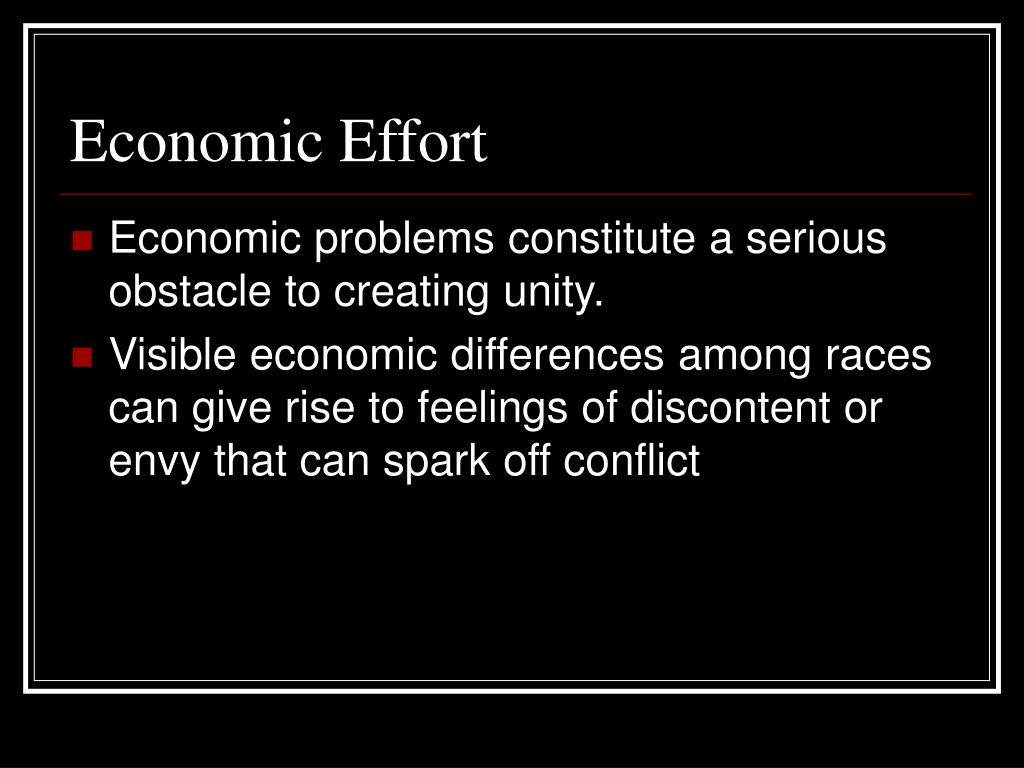 Economic Effort