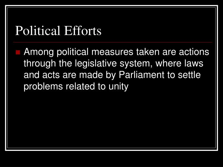 Political efforts