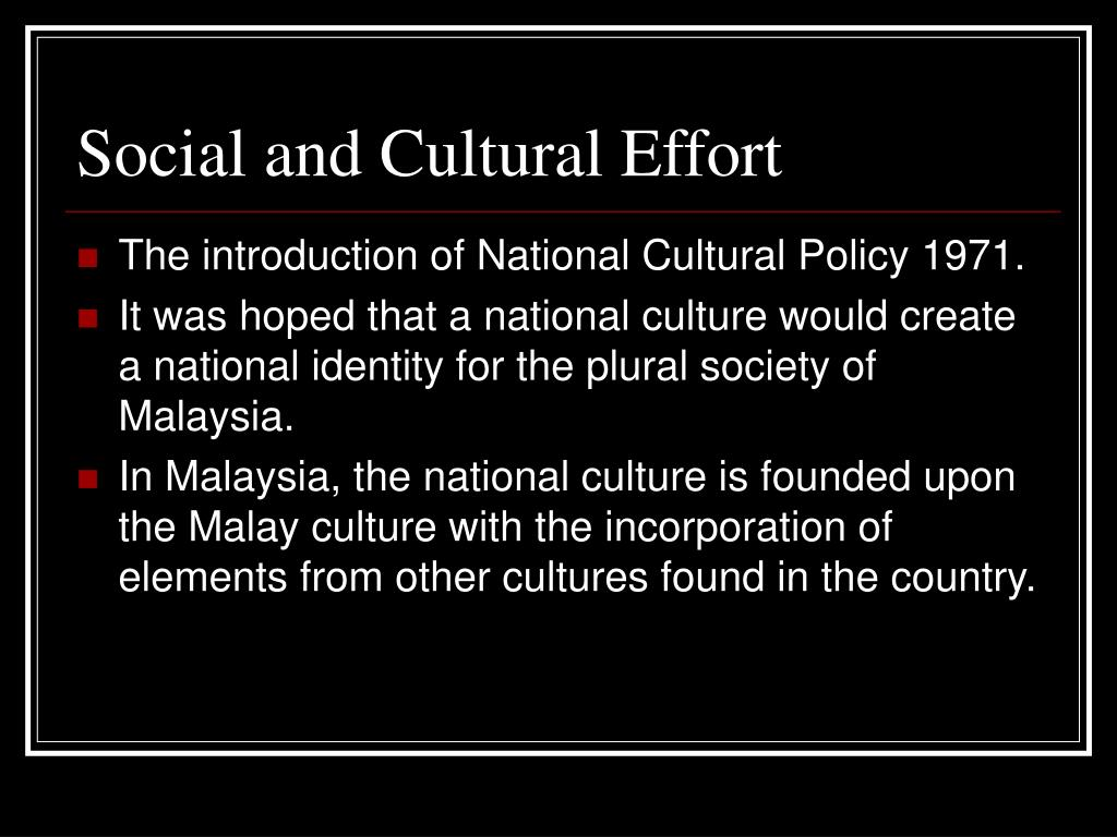Social and Cultural Effort