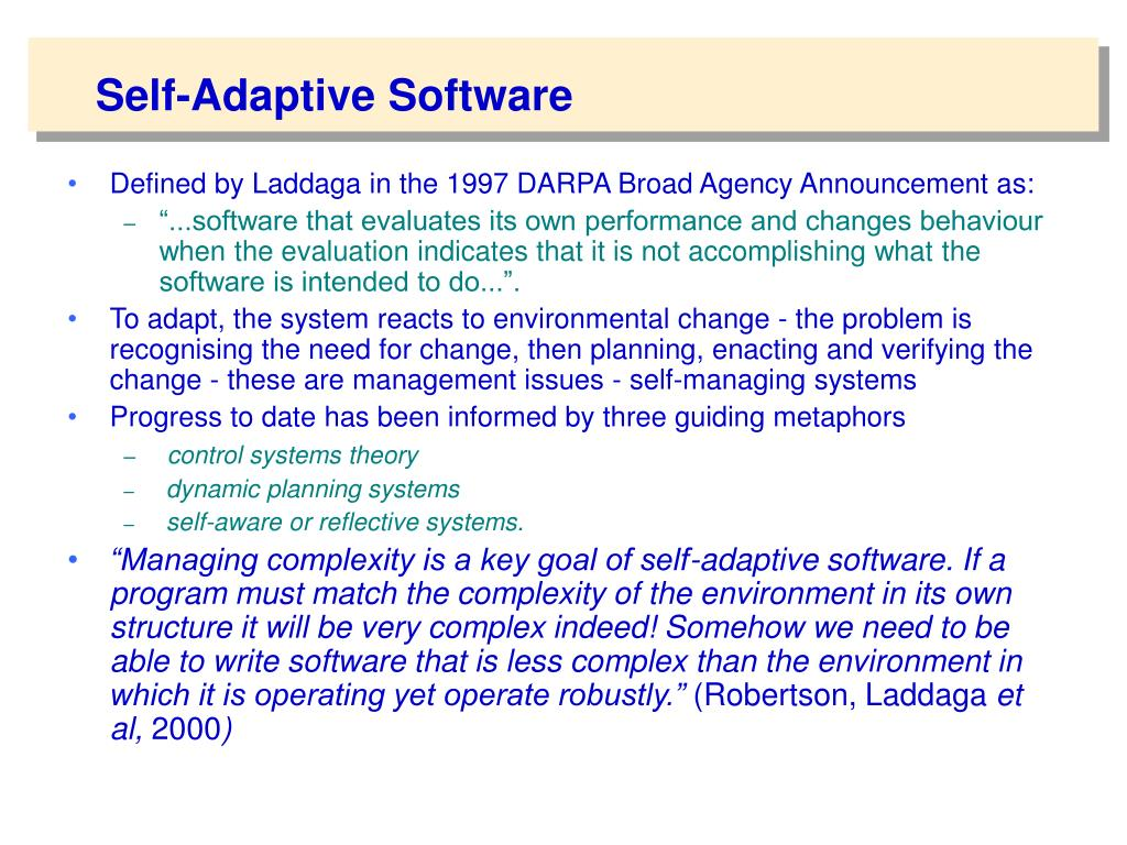Self-Adaptive Software