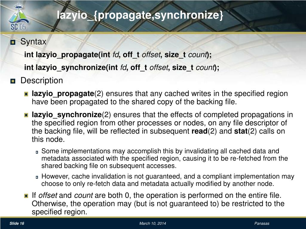 lazyio_{propagate,synchronize}