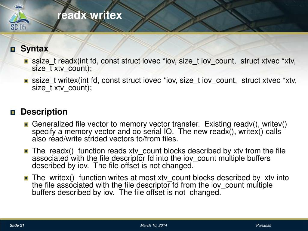 readx writex