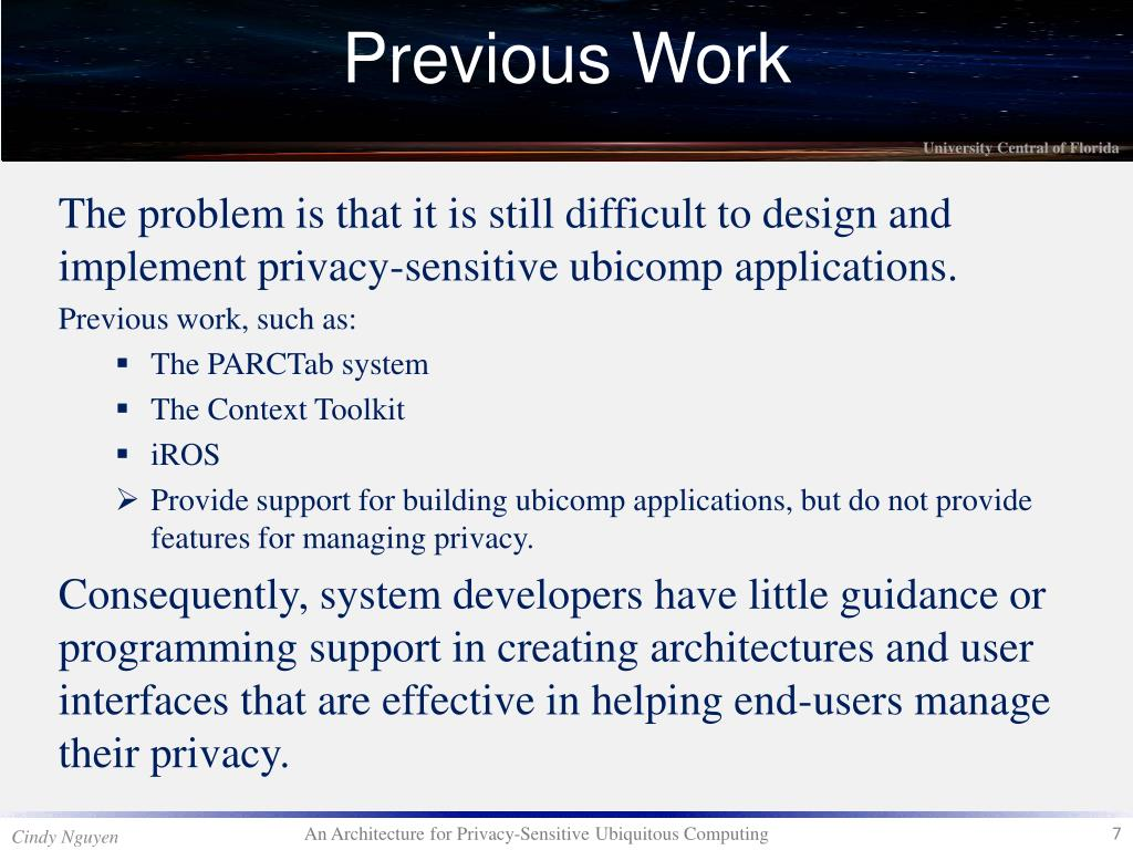 The problem is that it is still difficult to design and implement privacy-sensitive