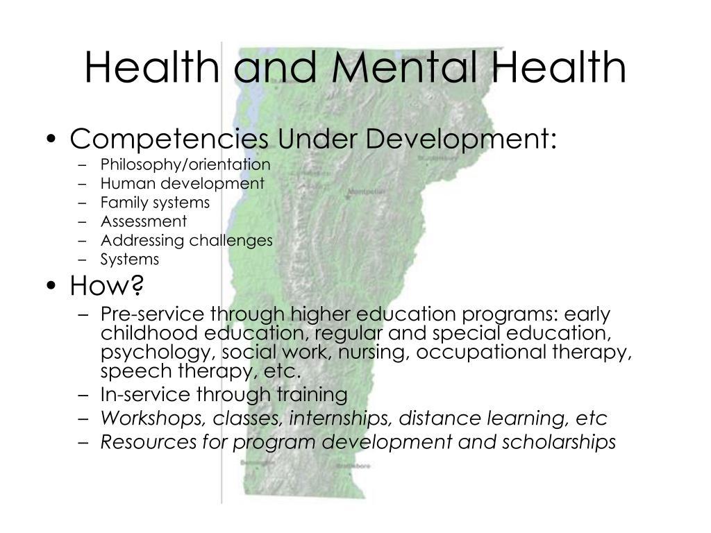 Health and Mental Health