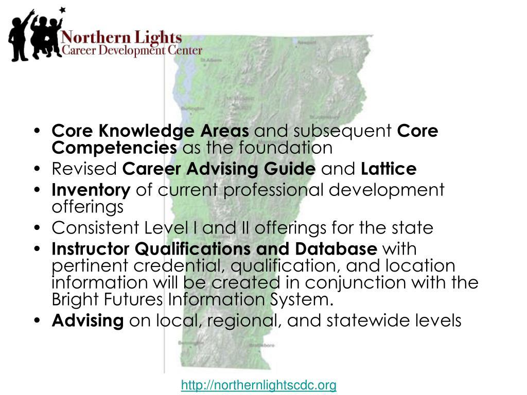 Core Knowledge Areas