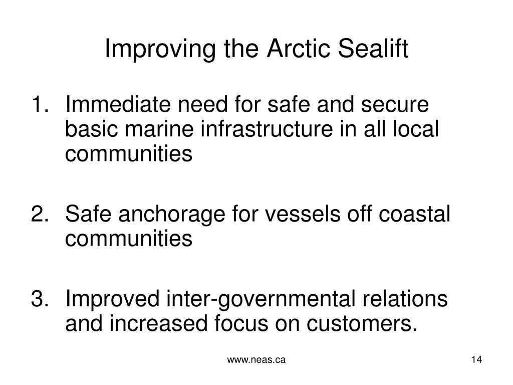 Improving the Arctic Sealift