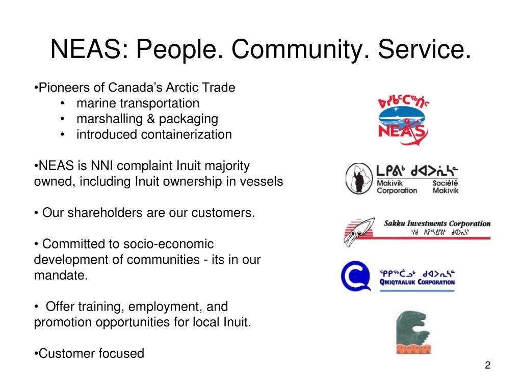 NEAS: People. Community. Service.