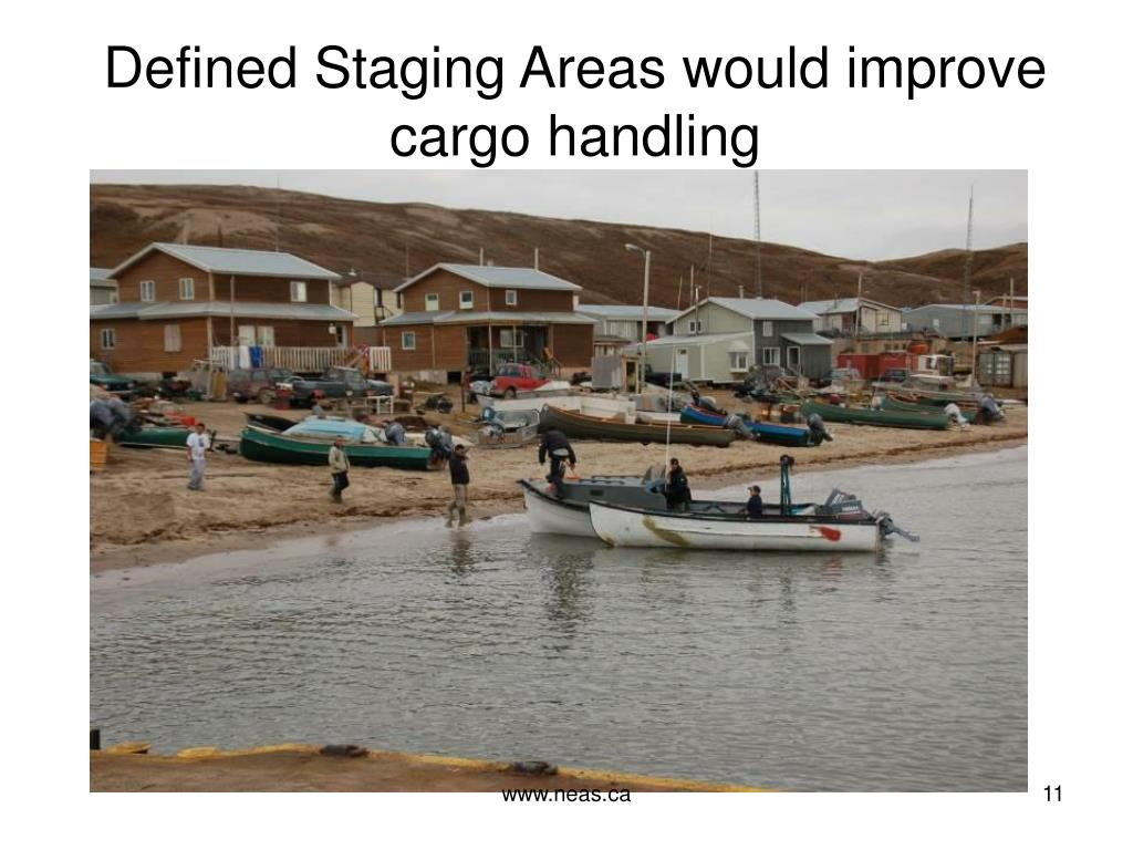 Defined Staging Areas would improve cargo handling