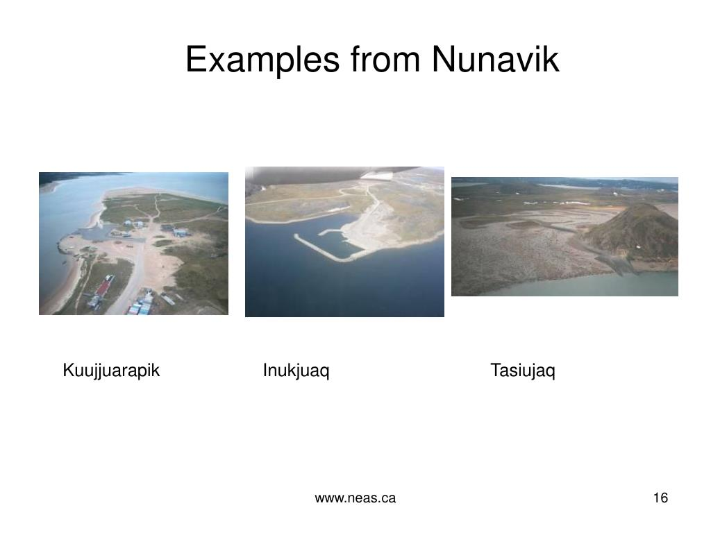 Examples from Nunavik