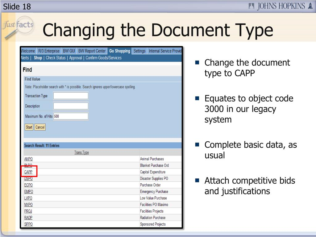 Changing the Document Type