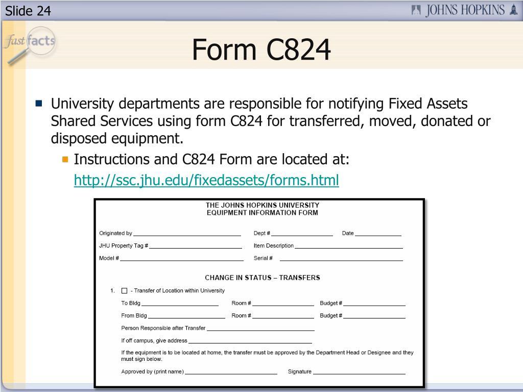 Form C824