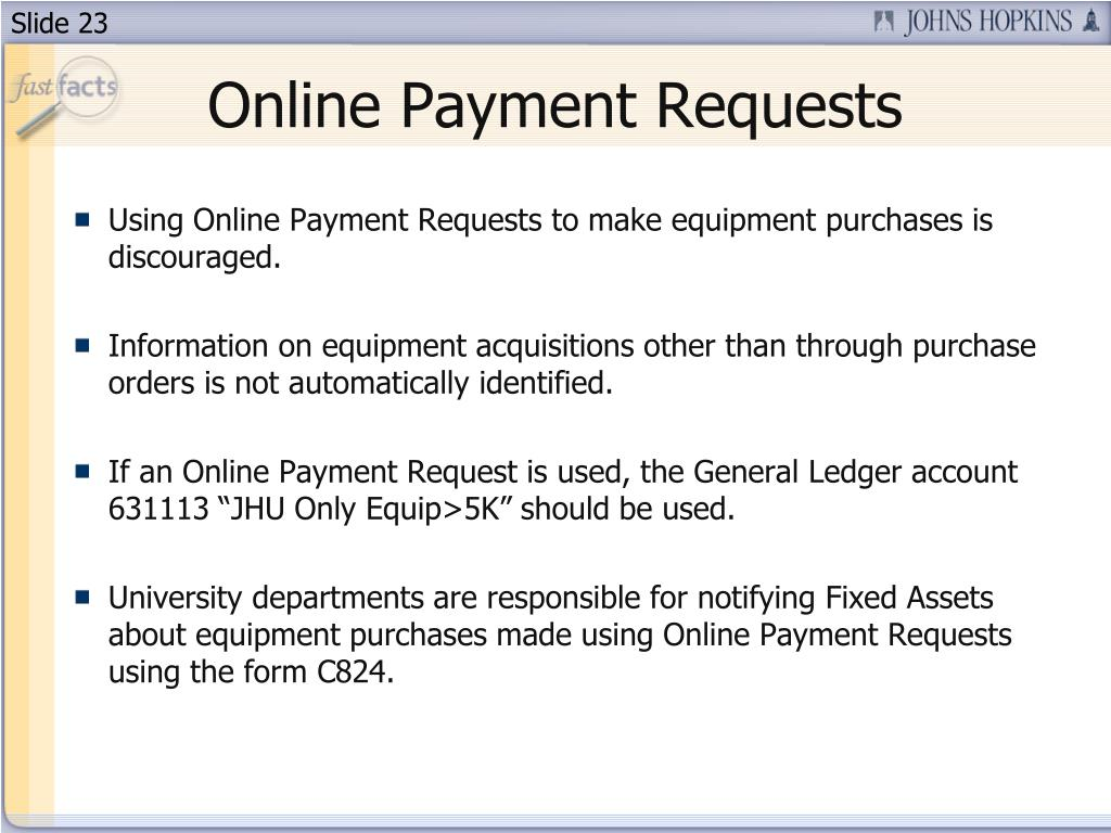 Online Payment Requests