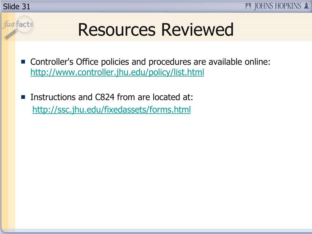 Resources Reviewed