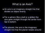 what is an axis
