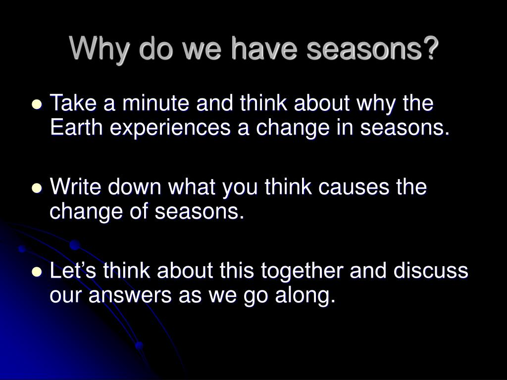 why do we have seasons essay Importance of time short speech, essay, paragraph & article  even seasons come after a fixed time period  we have to do time management.