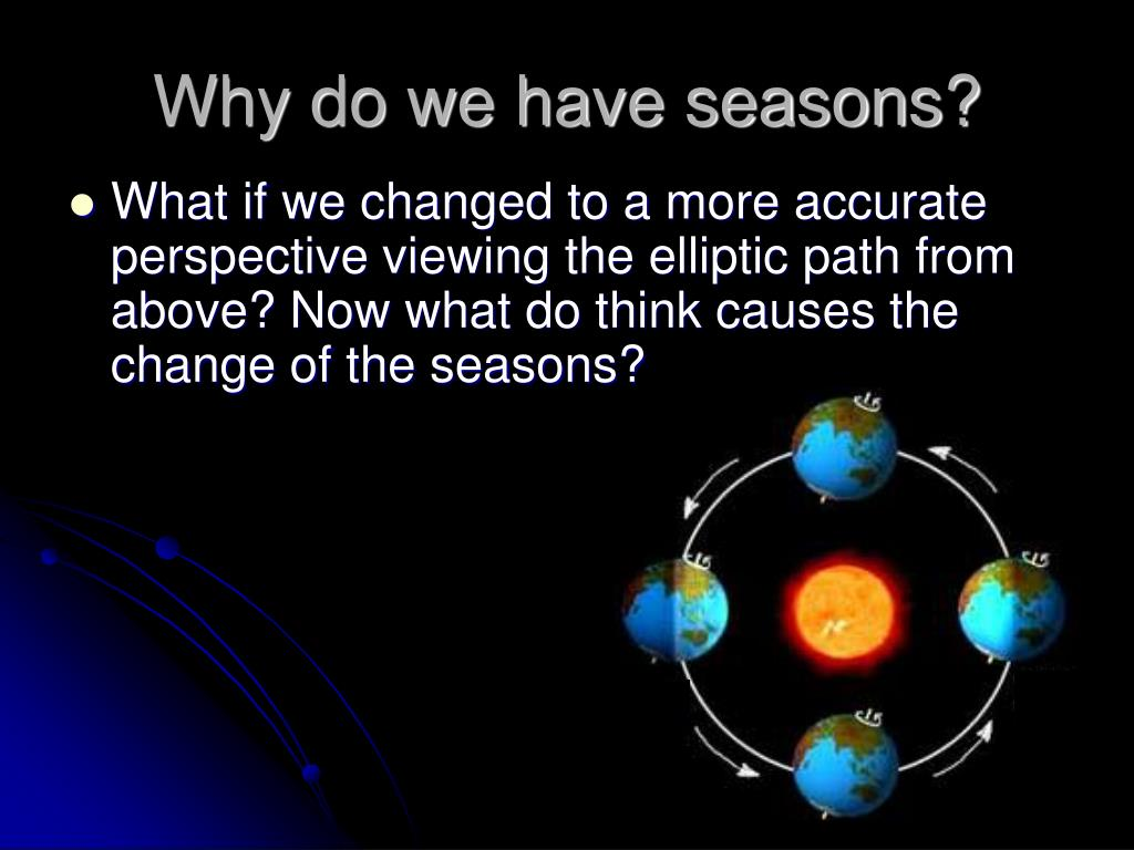 why do we have seasons The reasons for the seasons  how far away we are from the sun besides, we have summer in north  seasons even if you do not chart the.