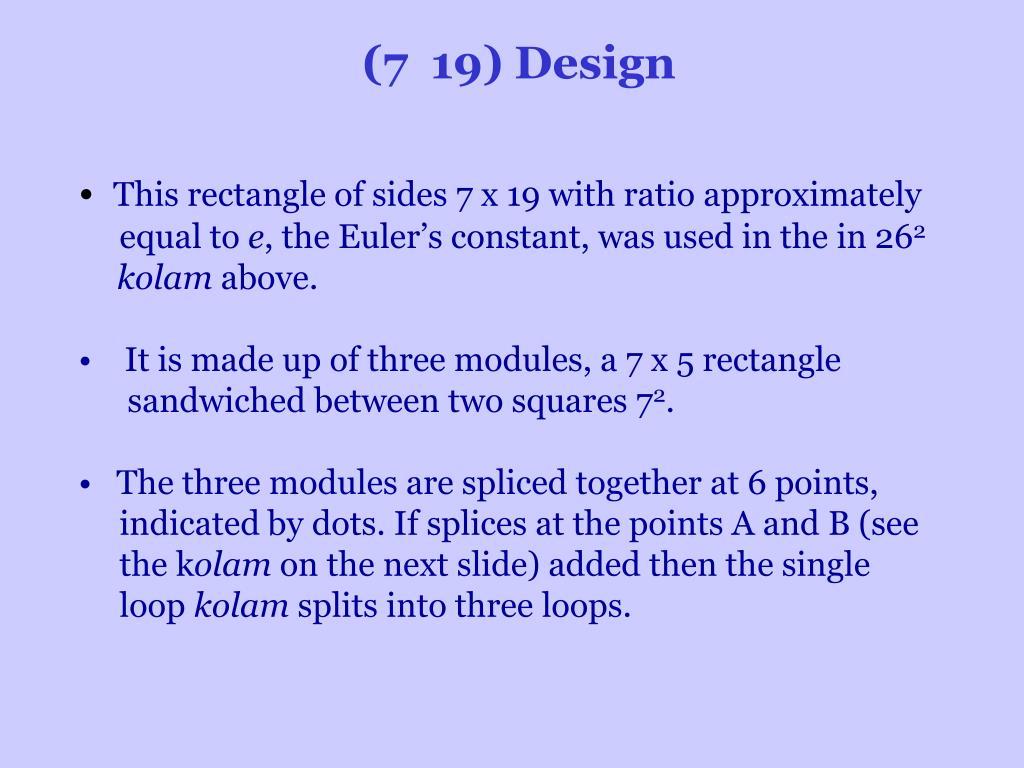(7 19) Design
