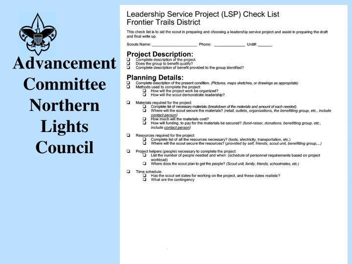 Advancement committee northern lights council3