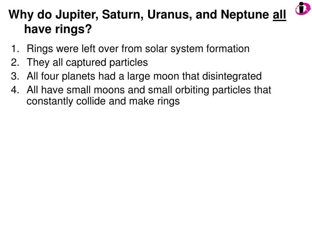 Why do Jupiter, Saturn, Uranus, and Neptune