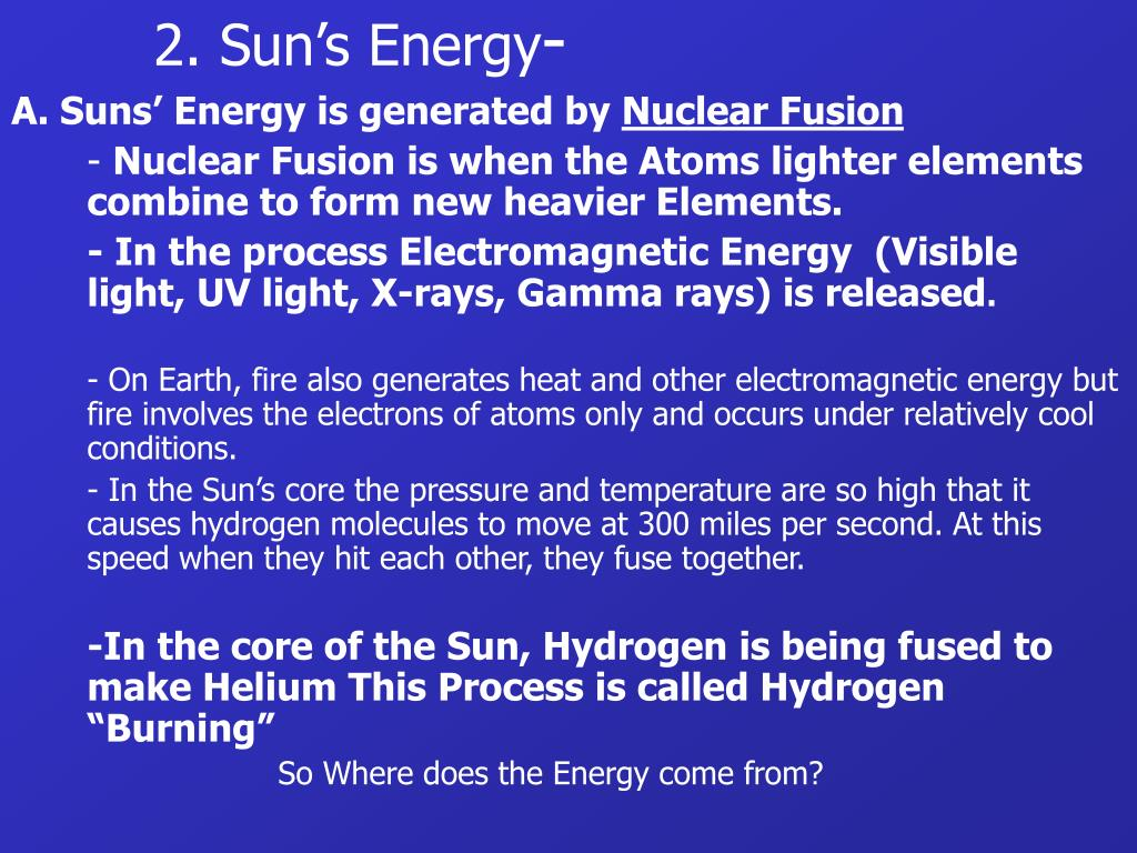2. Sun's Energy