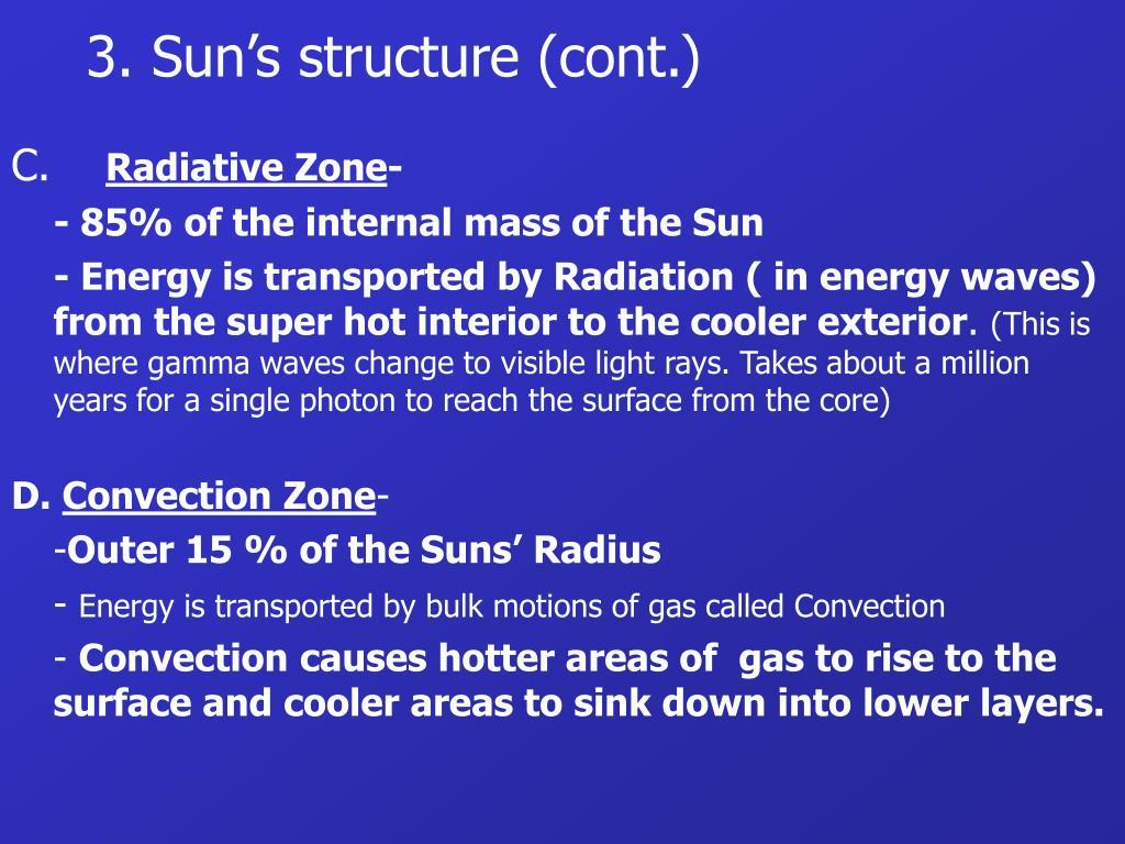 3. Sun's structure (cont.)