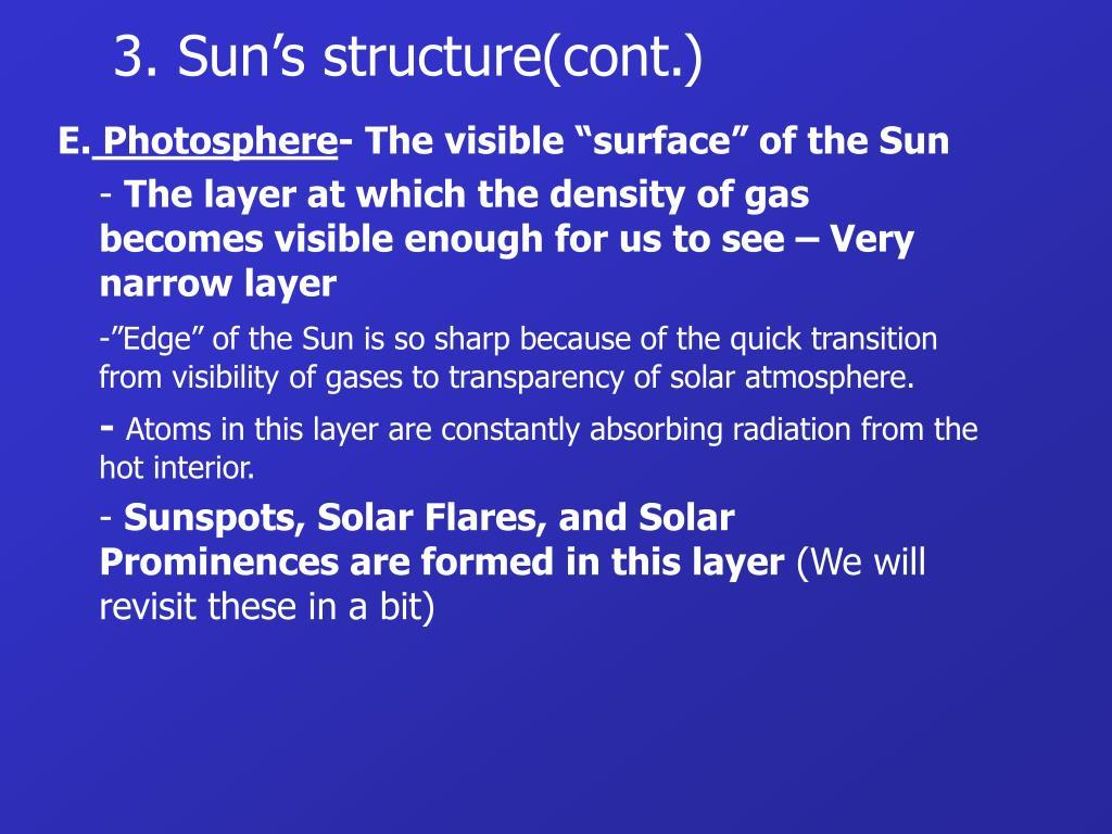 3. Sun's structure(cont.)