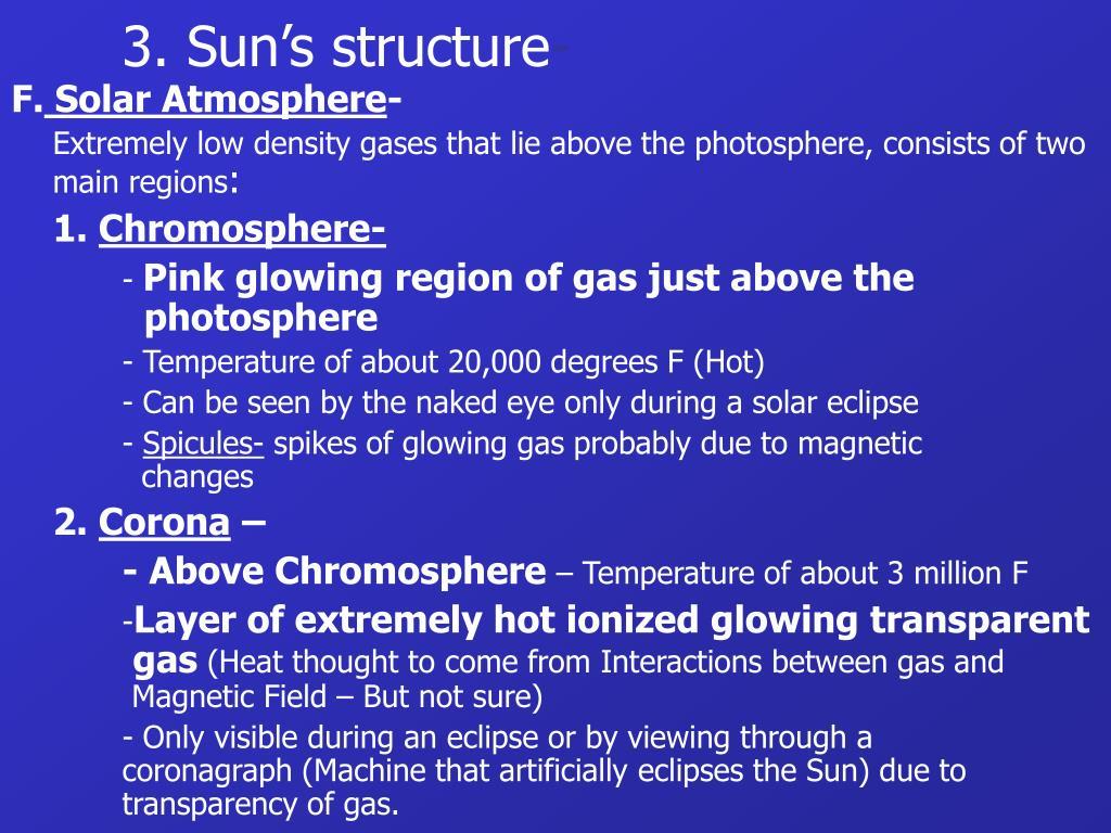 3. Sun's structure