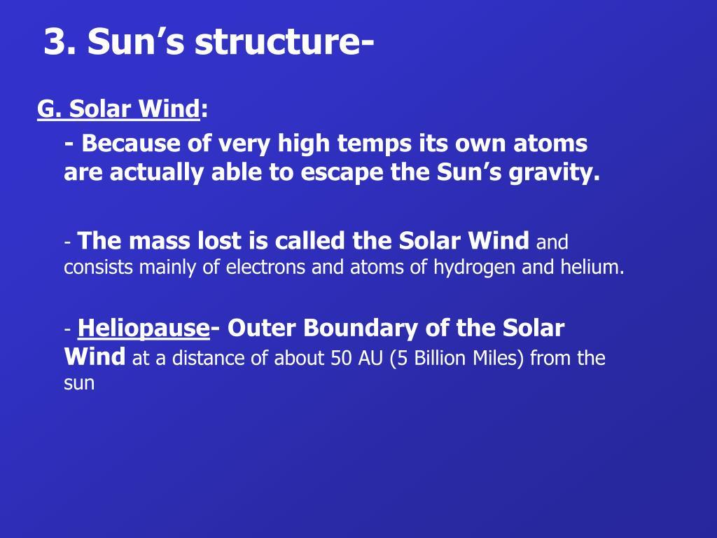3. Sun's structure-