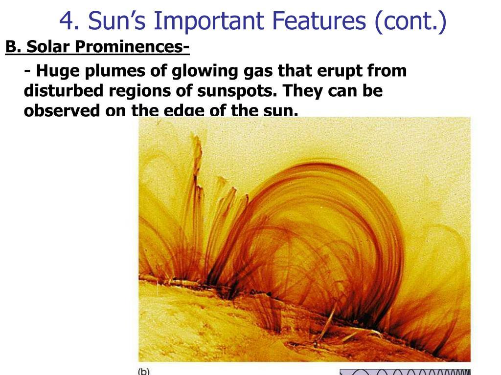 4. Sun's Important Features (cont.)