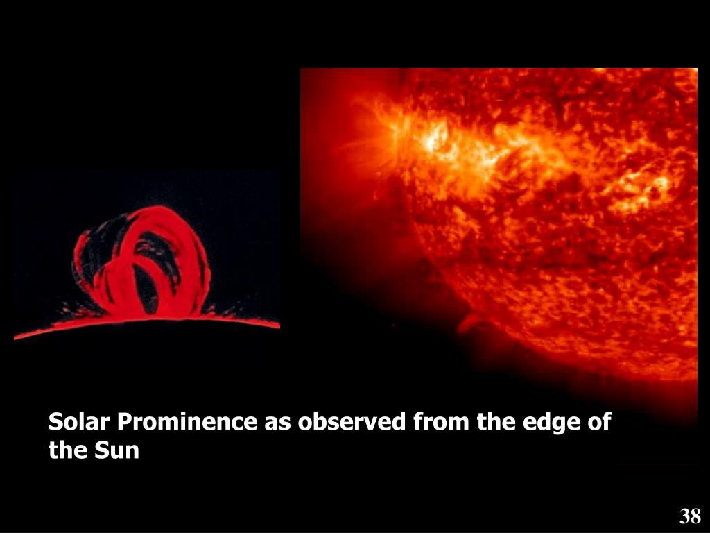 Solar Prominence as observed from the edge of the Sun