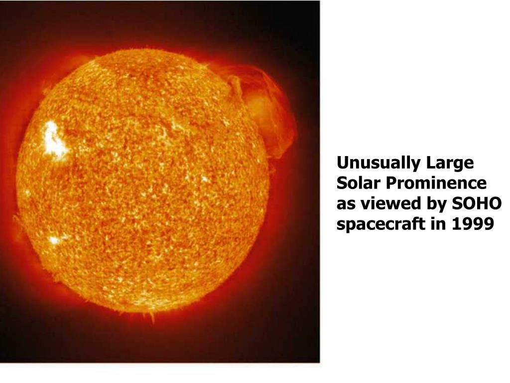 Unusually Large Solar Prominence as viewed by SOHO spacecraft in 1999
