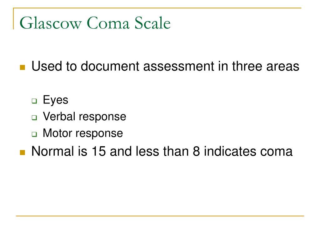 Glascow Coma Scale
