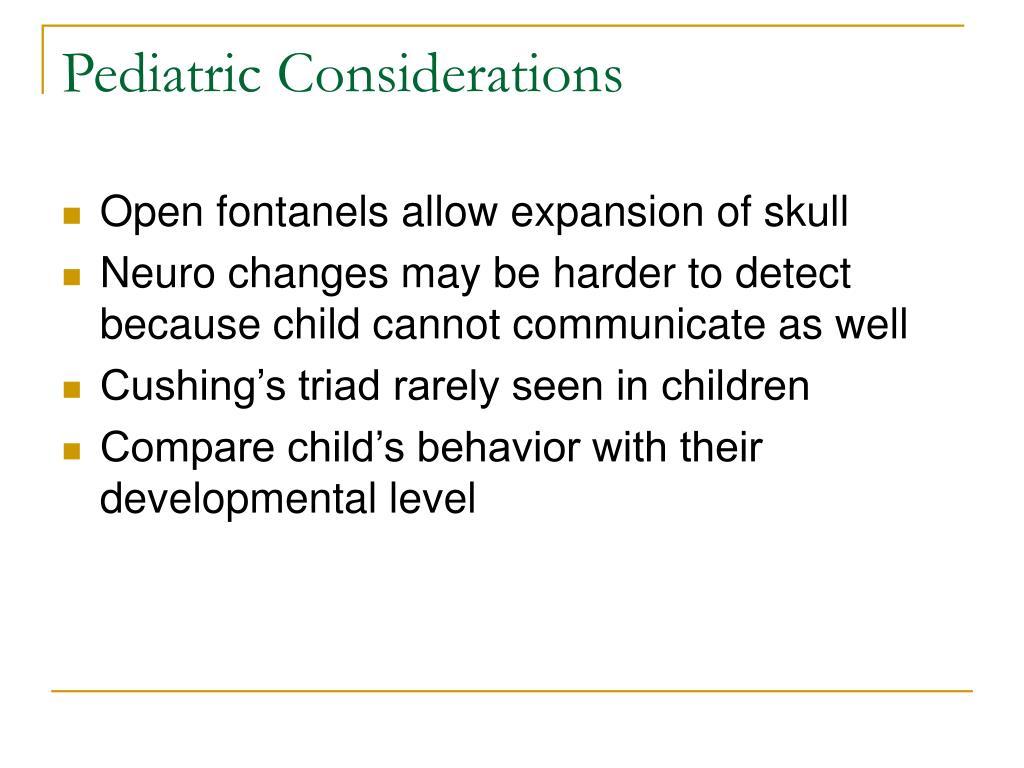 Pediatric Considerations