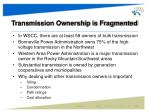 transmission ownership is fragmented