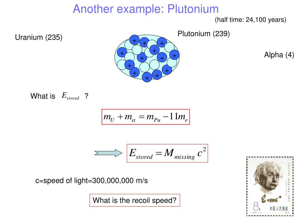 Another example: Plutonium