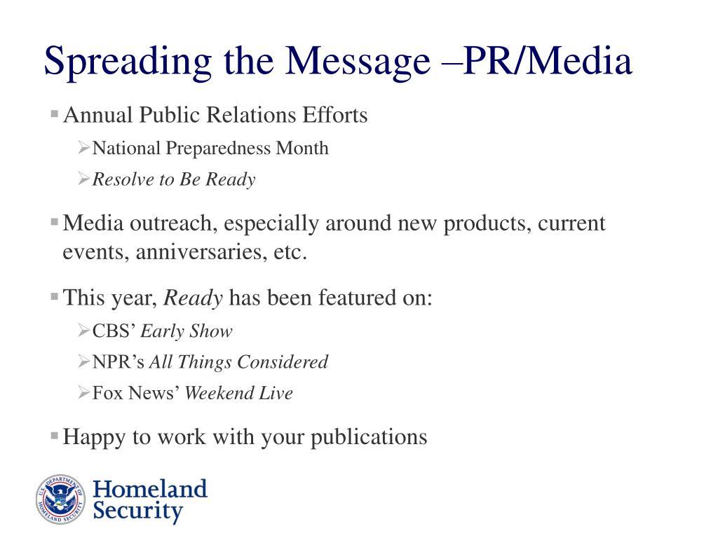 Annual Public Relations Efforts