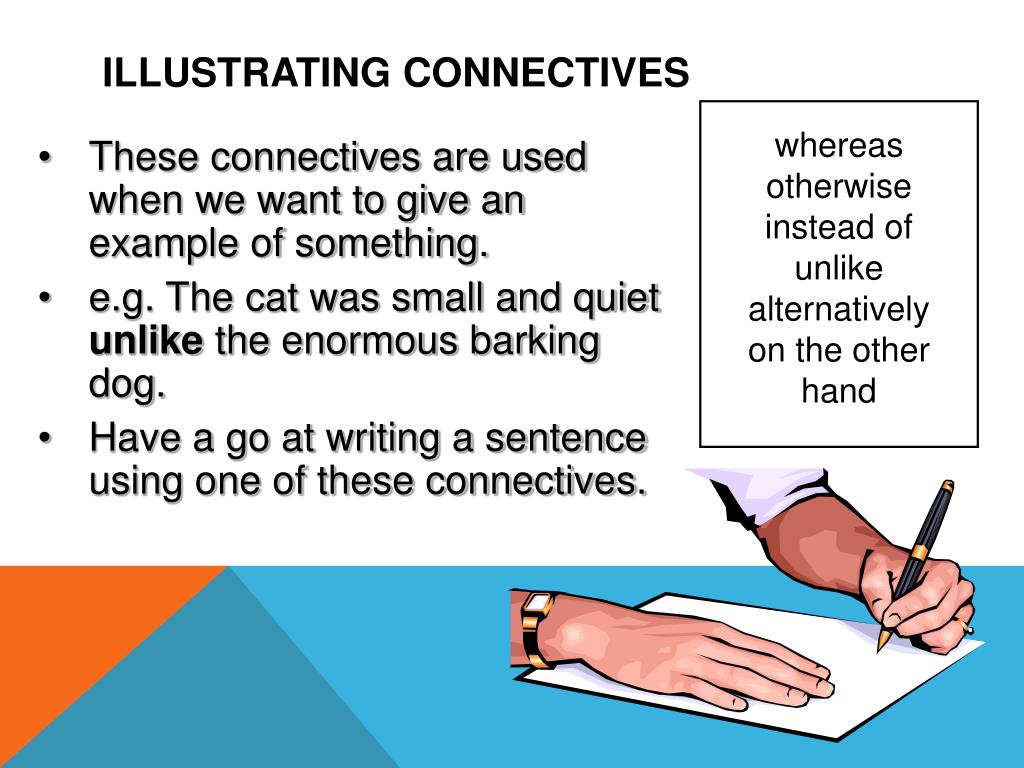 how to use connectives in sentences