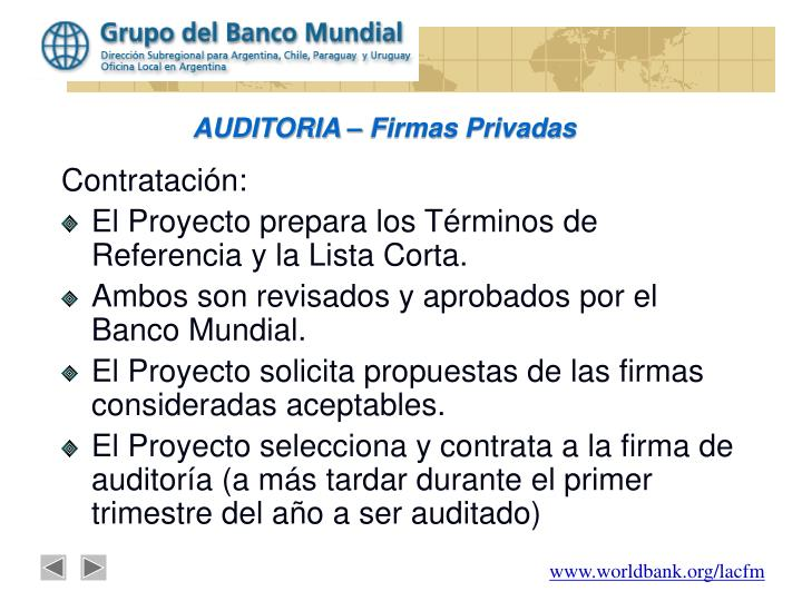 Auditoria firmas privadas
