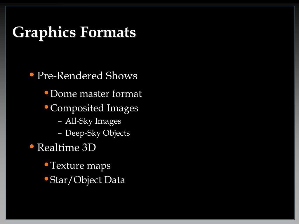 Graphics Formats
