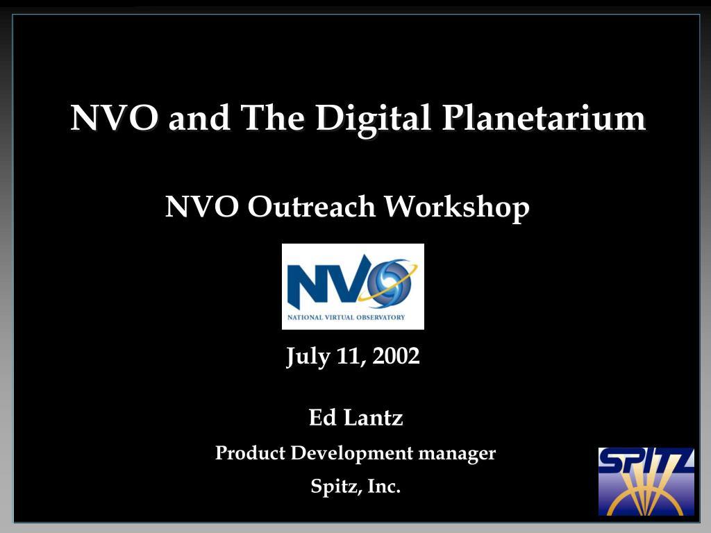 NVO and The Digital Planetarium