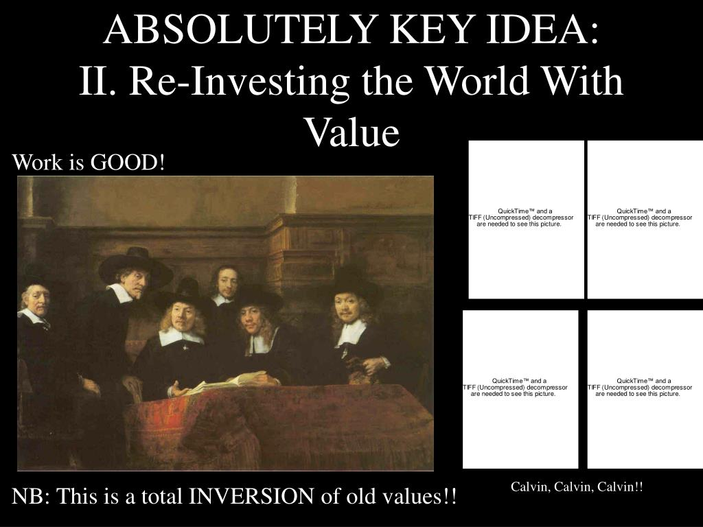 ABSOLUTELY KEY IDEA:
