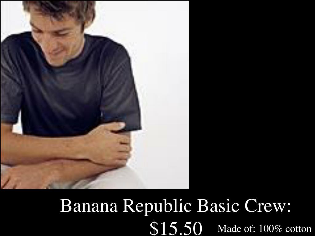 Banana Republic Basic Crew:  $15.50