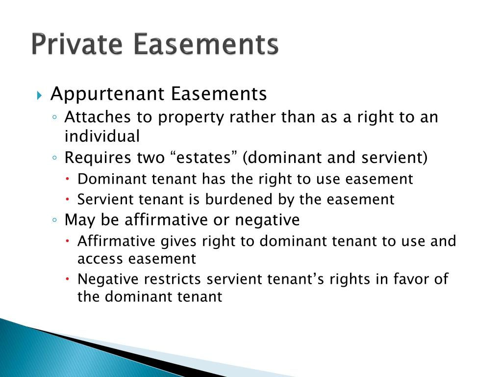 Private Easements