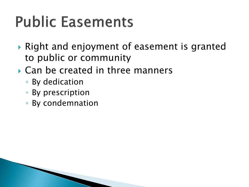 Public Easements