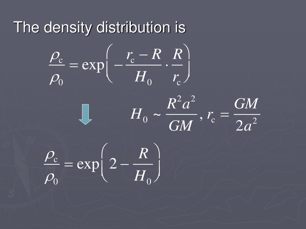 The density distribution is